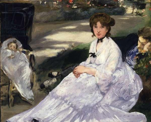 Au Jardin, 1870 (oil on canvas)