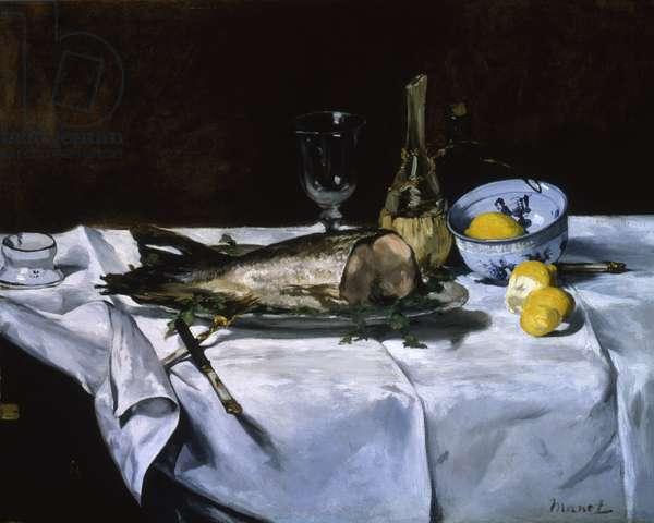 Le Saumon, c.1864 (oil on canvas)