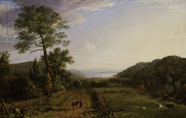 Country Lane to Greenwood Lake, 1846 (oil on canvas)