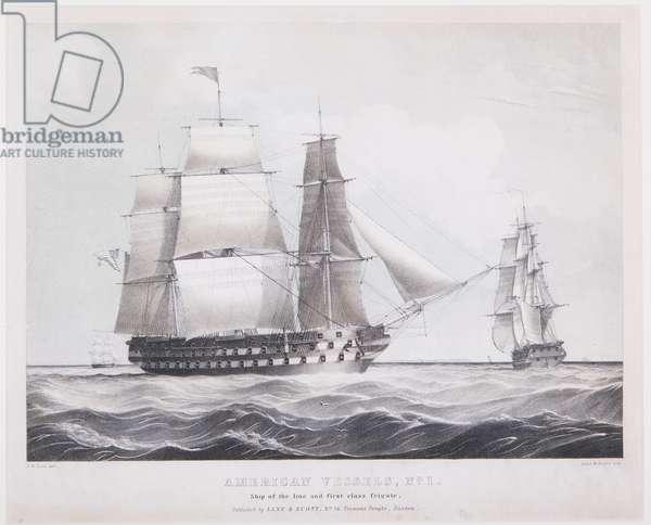 American Vessels No. 1, c.1845 (litho)