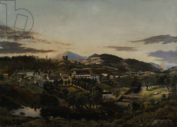 Clarendon Springs, Vermont, 1853 (oil on canvas)