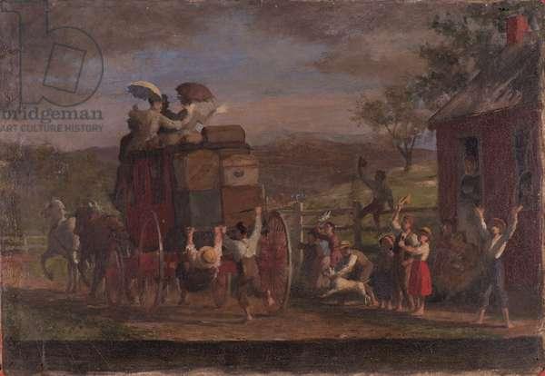 Study for the Pemigewasett Coach, c.1880-89 (oil on canvas)