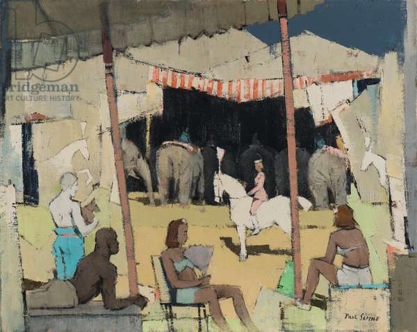 Circus Yard, date unknown (acrylic on canvas)