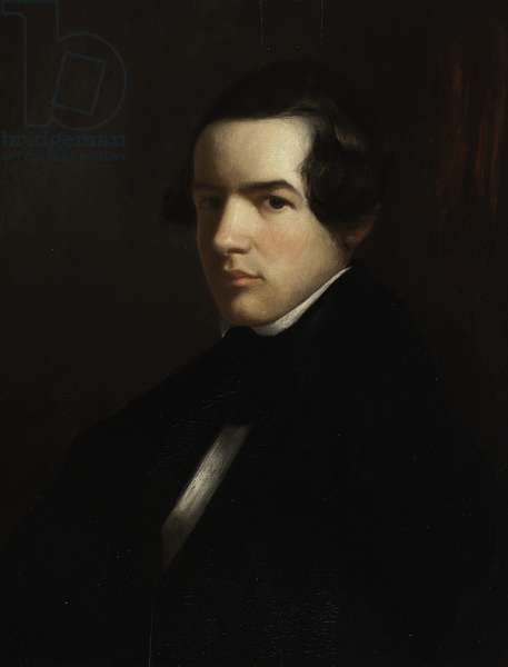 Self Portrait as a Young Man, 1830-39 (oil on wood)