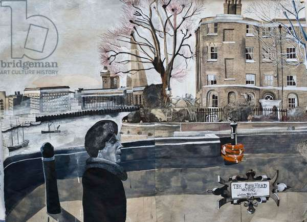The Pierhead Wapping, 2011 (w/c and ink on Khadi paper)