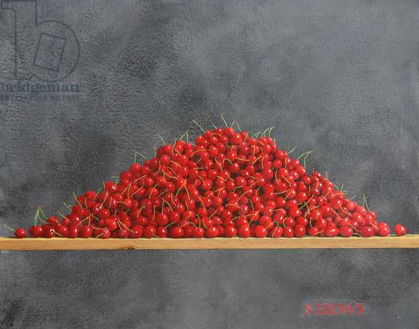 Heap of Cherries (oil on canvas)