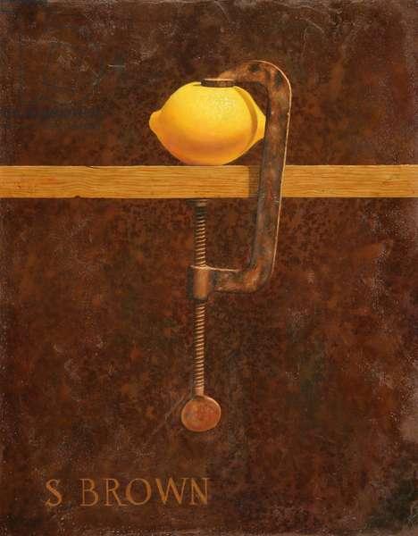 Lemon clamp, 2011 (oil on canvas)