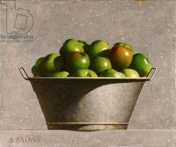 Tub Full of Apples, 2018 (oil on canvas)