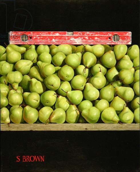 Level Pears, 2010 (oil on canvas)