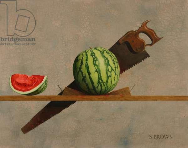 Watermelon Saw, 2011 (oil on canvas)