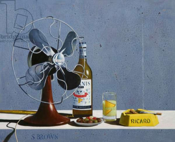 Fan and Pastis, 2006 (oil on canvas)