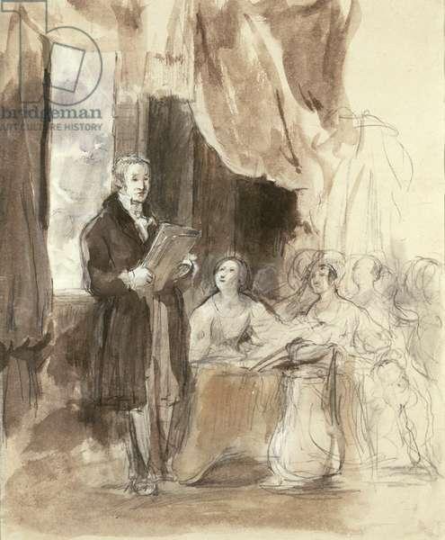 Sir Robert Peel Reading to Queen Victoria