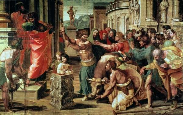 The Sacrifice at Lystra (cartoon for the Sistine Chapel) (PRE RESTORATION)