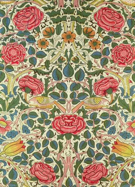 'Rose', 1883 (printed cotton)
