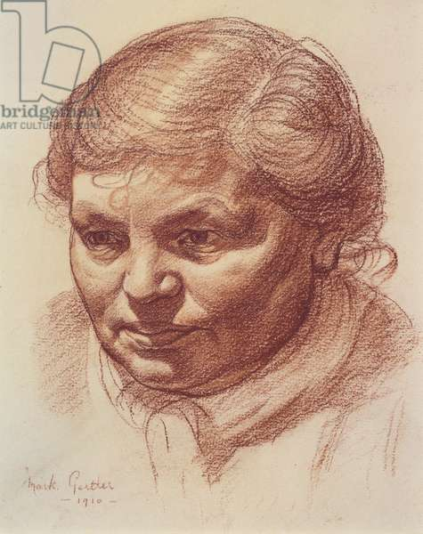 Head of the artist's mother, 1910 (sanguine on paper)