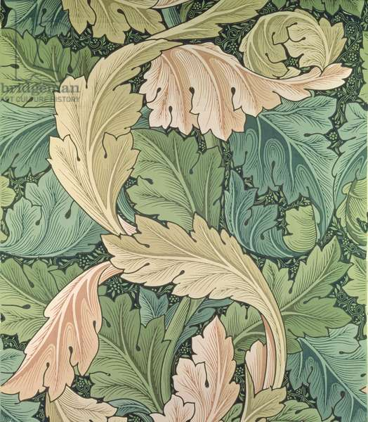 'Acanthus' wallpaper design, 1875