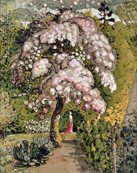 In a Shoreham Garden, c.1830 (w/c)