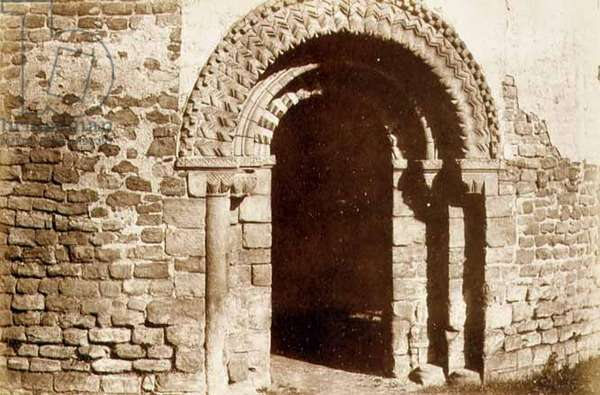 Ludlow Castle: the Round Church doorway, c.1852-3 (photo)