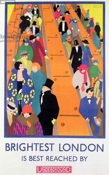 Brightest London is Best Reached by Underground, 1924, printed by the Dangerfield Co