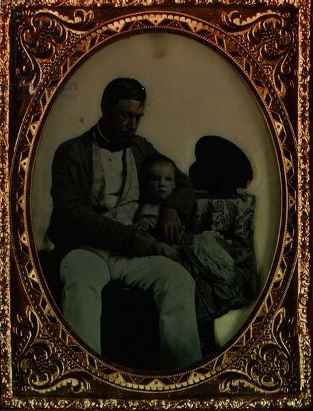 Father and Child, c.1850 (ambrotype_