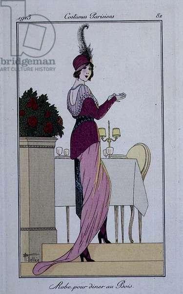 Costume plate from Gazette du Bon Ton, No.9, 1913