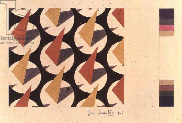 Design for a printed textile, 1947 by John Armstrong (1893-1973)