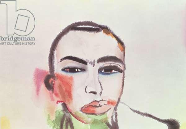 'Head', 1984 (watercolour)