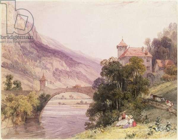 The Bridge of St. Maurice d'Augaune, Valais Switzerland