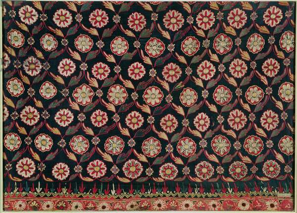 Kutch embroidery skirt piece, Bombay State, India, 19th century