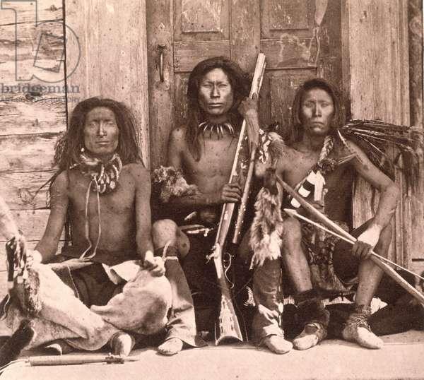Spokane Indians, 1861 (b/w photo)