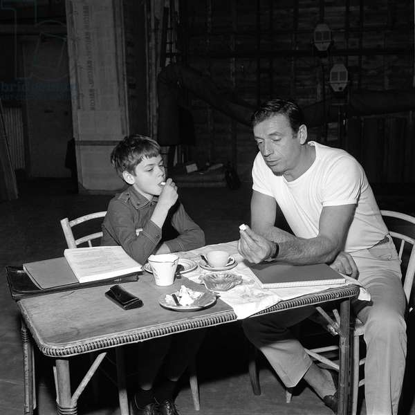 Didier Audepin and Yves Montand
