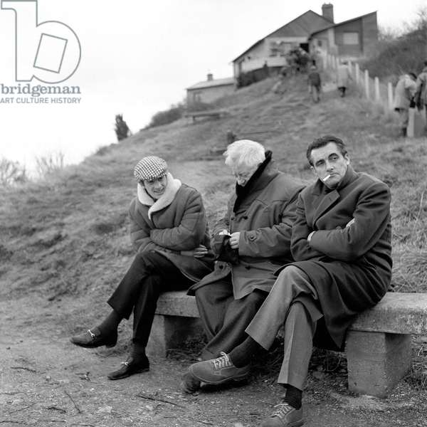Jean-Paul Belmondo, Jean Gabin et Jacques Bar