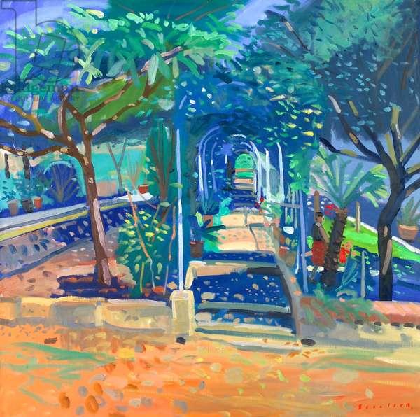 Tuscan Garden (oil on canvas)