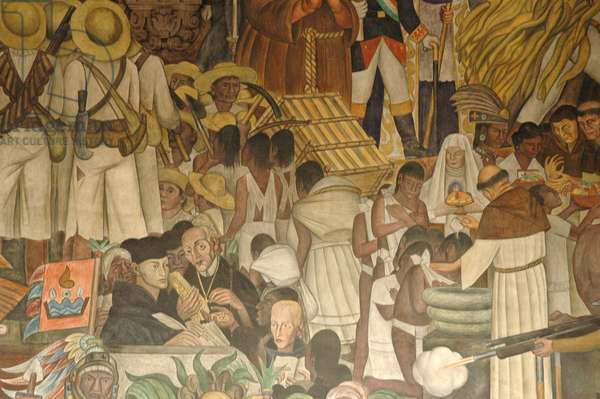 Diego Rivera mural, History of Mexico