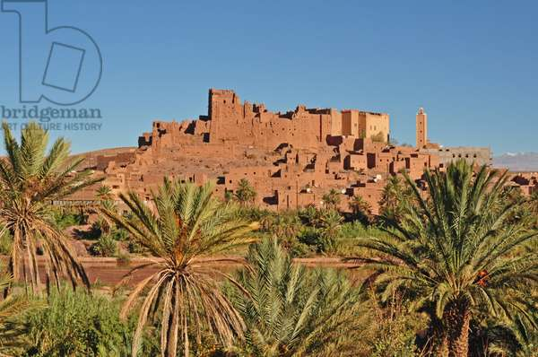 Ouarzazate, Taouririt Kasbah, Unesco restored Kasbah. Morocco