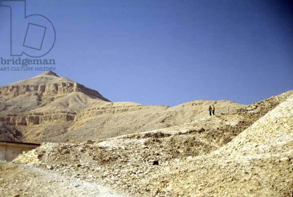 The Valley of the Kings showing a natural pyramid in the background (photo)