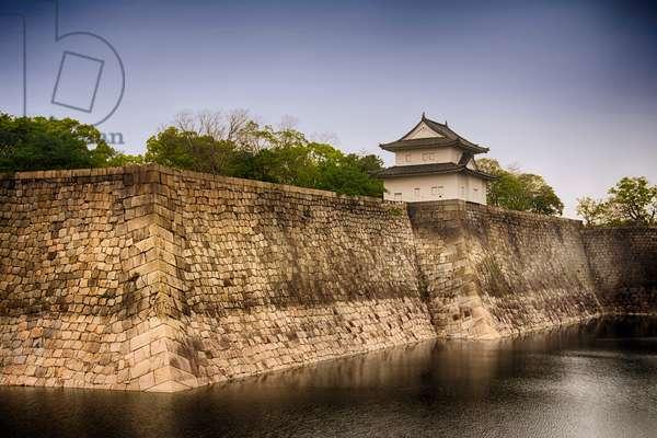 Osaka Castle (16th century), outer walls with Ichiban Yagura Turret, Osaka,  Osaka Prefecture(???,?saka-fu), Honshu Island, Japan (photo)