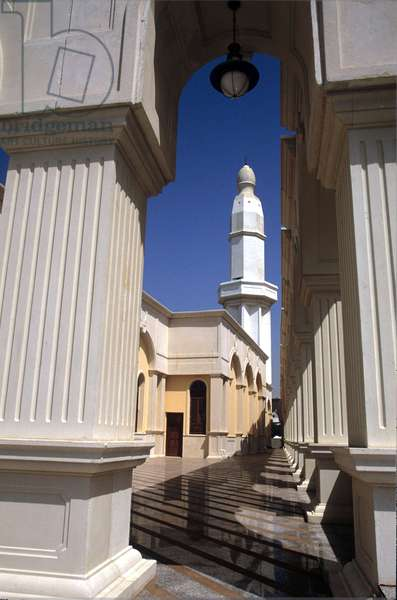Mosque, Jeddah, Saudi Arabia. Bugshan Mosque.