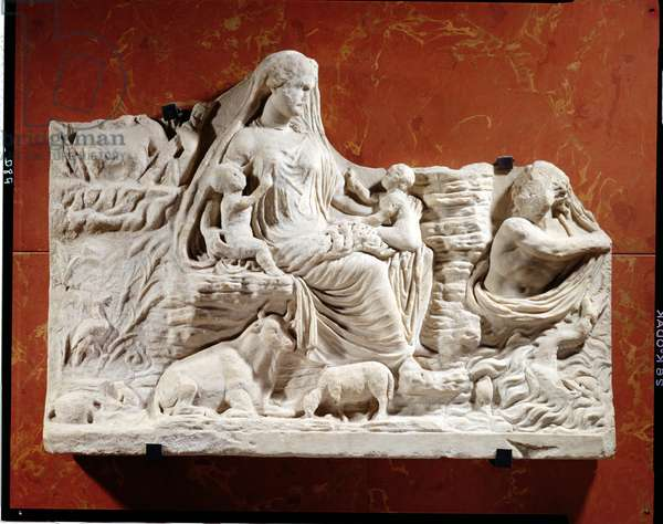 Personification of the earth mother, allegorical relief, Roman, Carthage, beginning of 2nd century AD (marble)