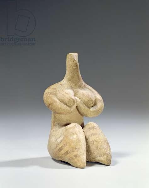 Female figurine in the Halaf style, c.4500 BC (terracotta)