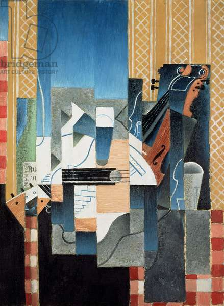 Still Life with Violin and Guitar, 1913 (oil on canvas)