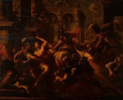 Rape of the Sabines, 1650-55 (oil on canvas)