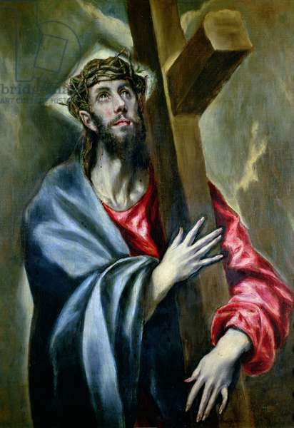 Christ Clasping the Cross, 1600-10 (oil on canvas)