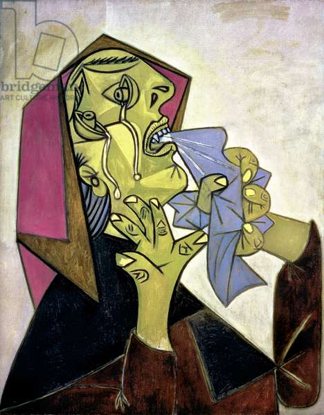 Weeping Woman's Head with Handkerchief III, 1937 (oil on canvas)