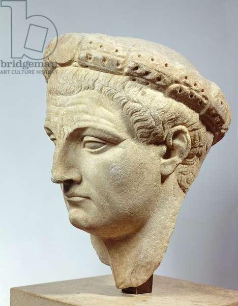 Claudius, marble head, 41-54 AD