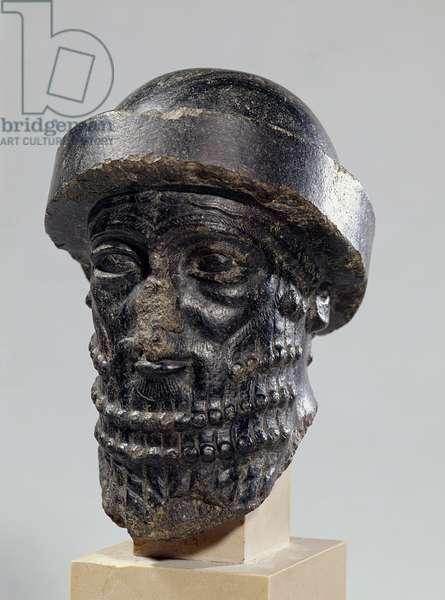 Head of a king, possibly Hammurabi, king of Babylon, c.1900 BC (diorite)