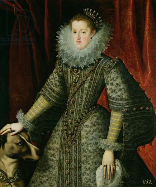 Queen Margarita of Austria, 1609 (oil on canvas)