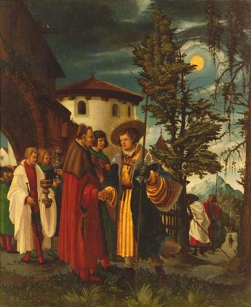 The Departure of Saint Florain, 1516-18 (oil on panel)