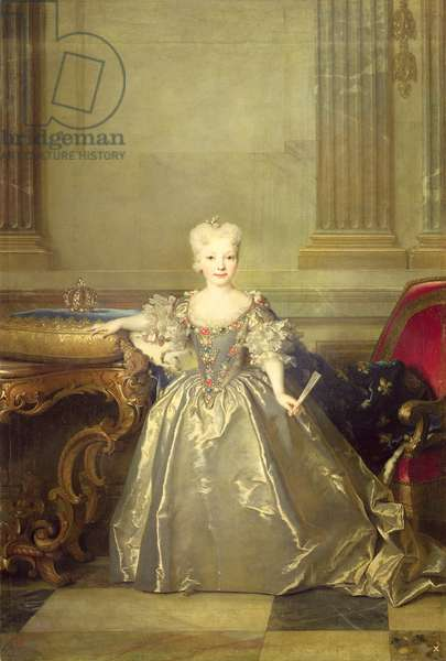 Infanta Maria Ana Victoria de Borbón, 1724 (oil on canvas)