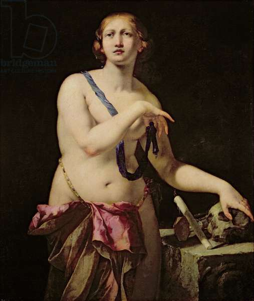 Mary Magdalene in Penitence (oil on canvas)